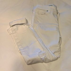 White denim Lucky Brand cropped jeans - Size 26